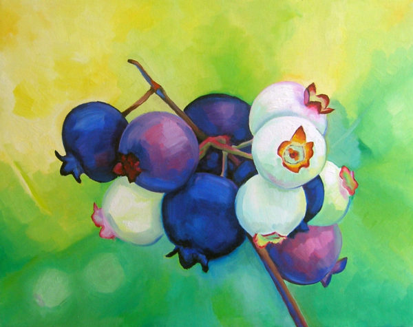 Blue Berries - Oil on Canvas