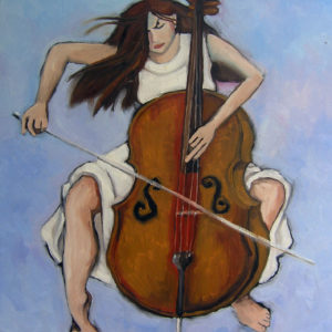 Cellist - Oil on Canvas