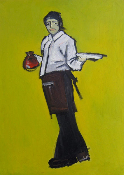 The Waitress - Oil on Canvas